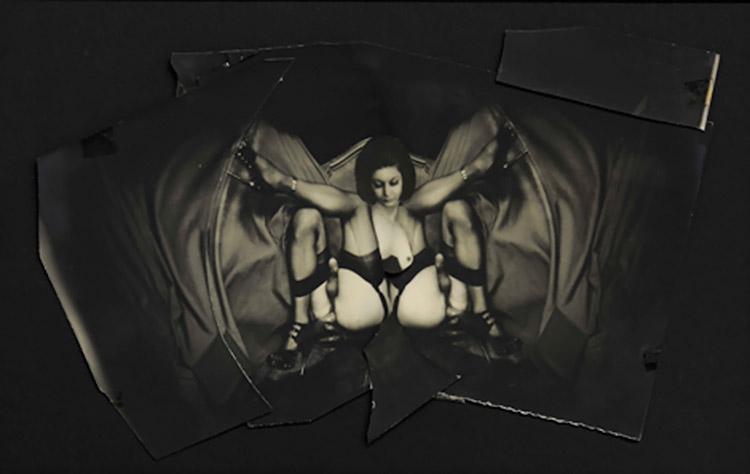 Pierre Molinier -Photomontage Portrait d'Hanel planche 30 du Chaman et ses créatures, 1965-1968