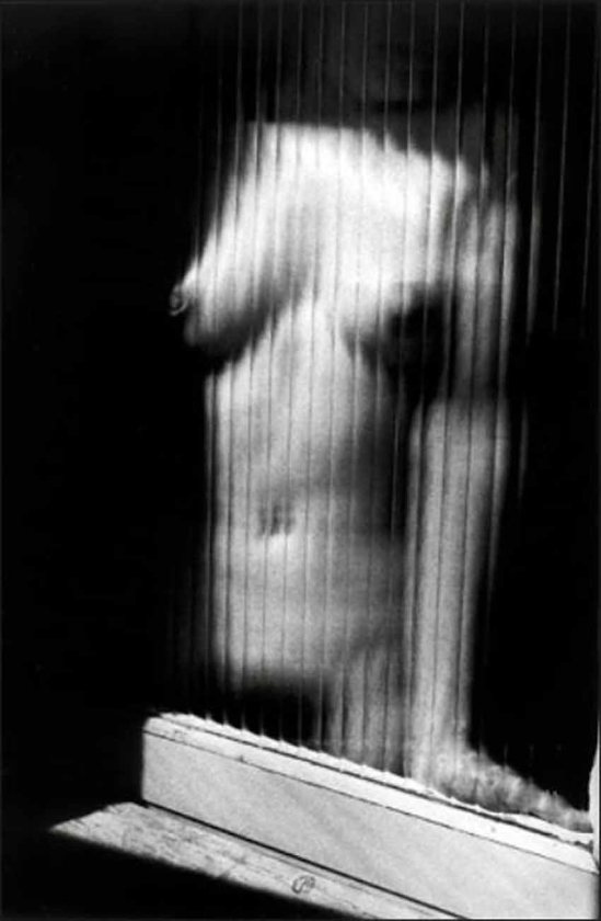Ralph Gibson-Untitled (Nude Through Ribbed Glass), 1987