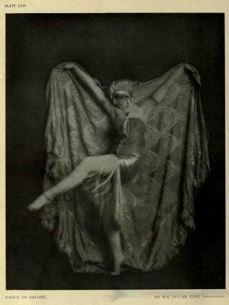 Waldemar Eide- Vera Fokina Dance of Salome, Photograms of the Year 1920.
