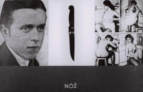 Zdzisław Beksiński, Knife photomontage, 1950-55