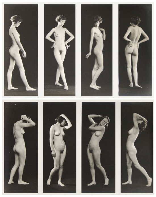 Albert Arthur Allen- figure study of 4 nudes, by Allan Art Studios, Oakland, California.1923 2