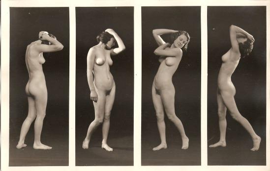 Albert Arthur Allen- figure study of 4 nudes, by Allan Art Studios, Oakland, California.1923