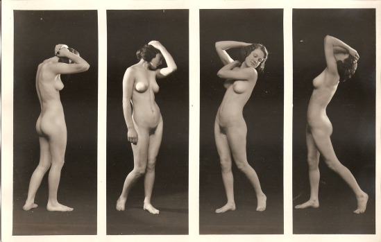 Albert Arthur Allen- figure study of 4 nudes, by Allan Art Studios, Oakland, California.1923