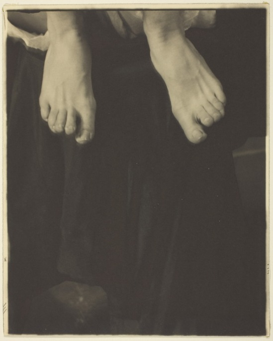 Alfred Stieglitz- Georgia O'Keeffe - Feet, 1918  Palladium print, solarized