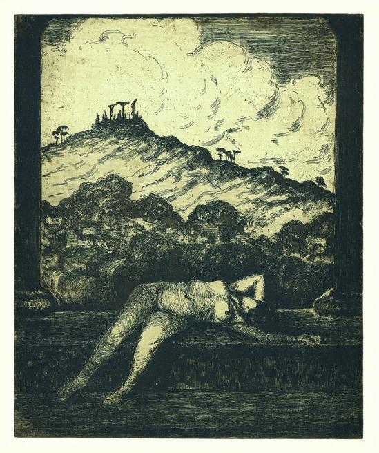 František Drtikol- Golgotha etching, 1910-20