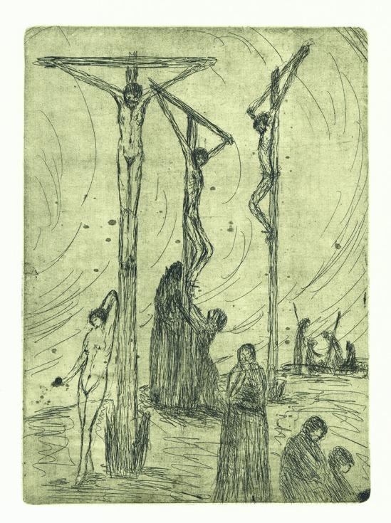 František Drtikol- Golgotha I etching, 1910-20