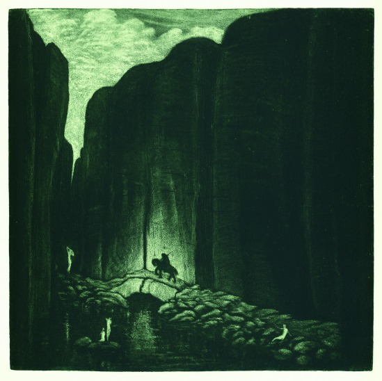 František Drtikol- Journey, etching, 1910-20