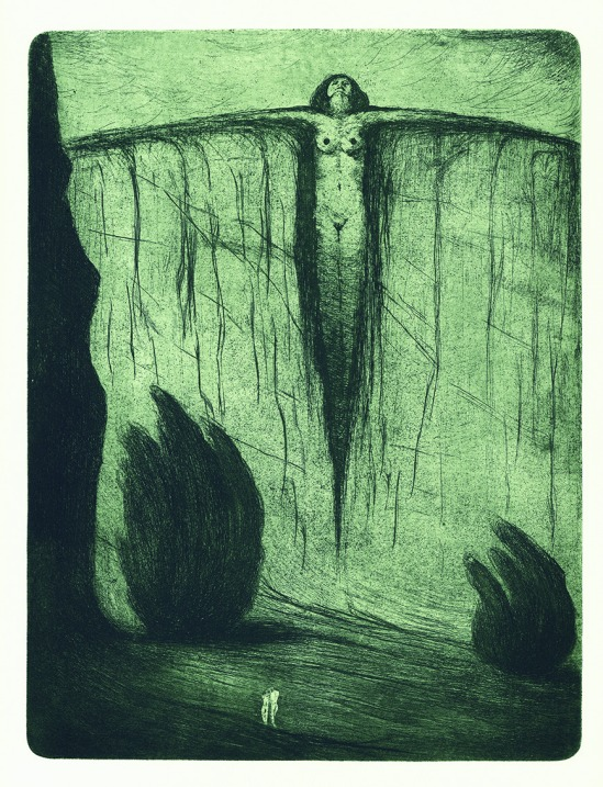 František Drtikol- mother earth etching, 1910-20