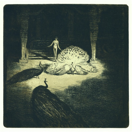 František Drtikol- Untitled ( Antique Motive) etching, 1910-20
