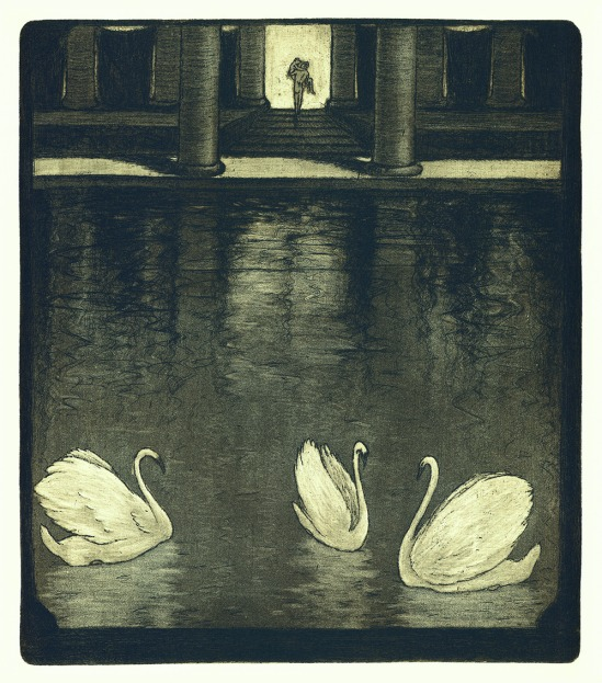 František Drtikol- Untitled ( Antique Motive I) etching, 1910-20