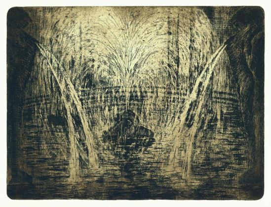 František Drtikol- Untitled ( Antique Motive III) etching, 1910-20