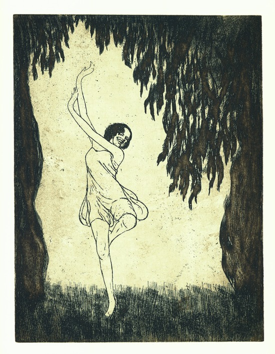 František Drtikol- Untitled ( dancer I) etching, 1910-20