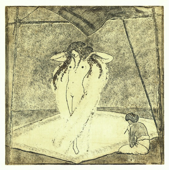 František Drtikol- Untitled ( dancer II) etching, 1910-20
