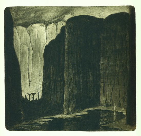 František Drtikol- Untitled etching, 1910-20 4