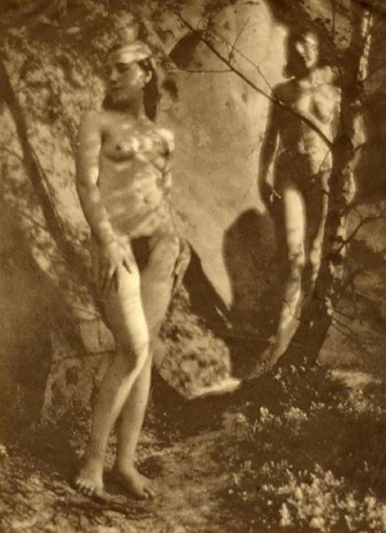 Franz Fiedler -Nu dans la forêt, 1930