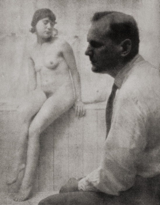 Franz Fiedler Self portrait with model, Dresden , 1925.