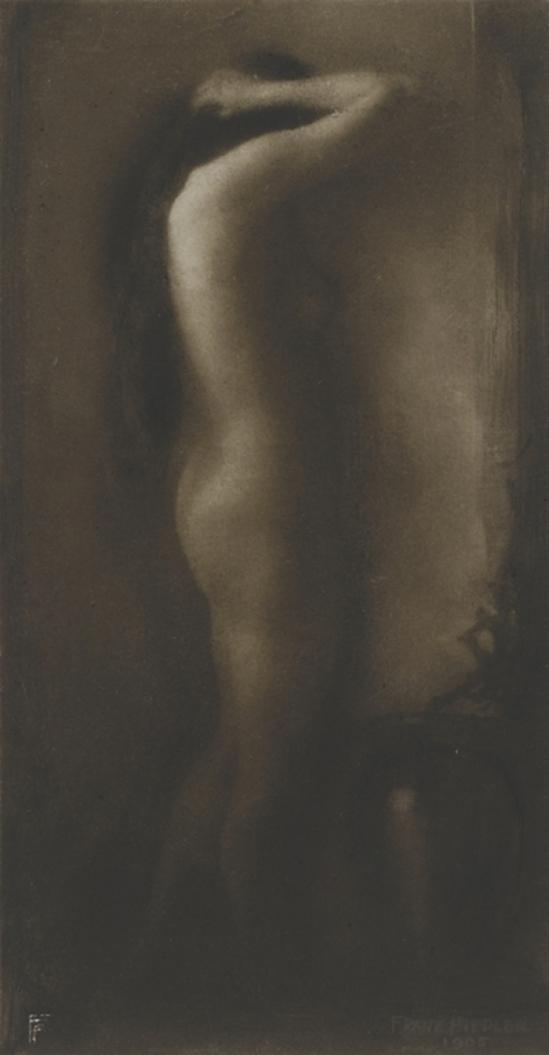 Franz Fiedler- Stehender Akt (Standing up nude), 1905