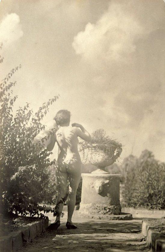 Harold Cazneaux-Model in Norman Lindsay's garden, Springwood , 1920