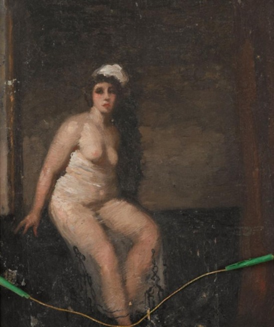 Norman Lindsay (1879-1969) After The Bath, oil