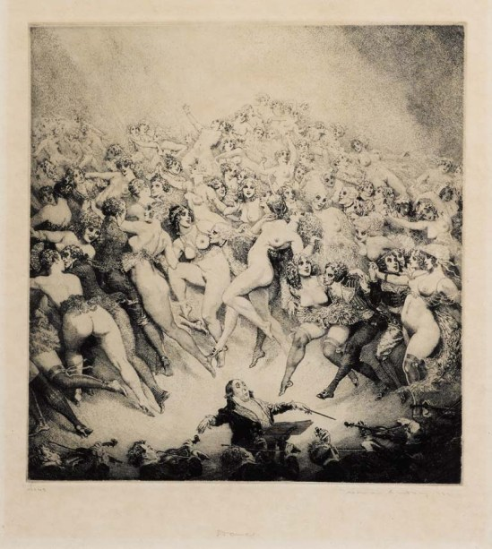 Norman Lindsay (1879-1969) Dance 1923  etching,