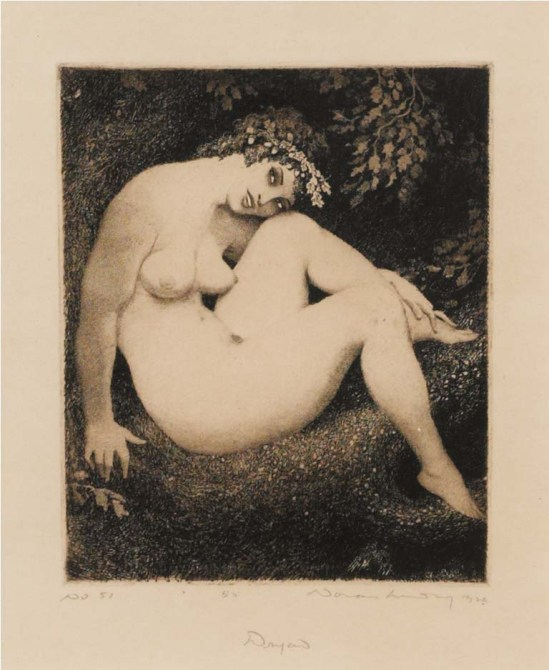 Norman Lindsay (1879-1969) Dryad 1923  etching and stipple