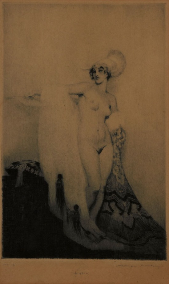 Norman Lindsay (1879-1969) Lydia 1919  drypoint and etching,