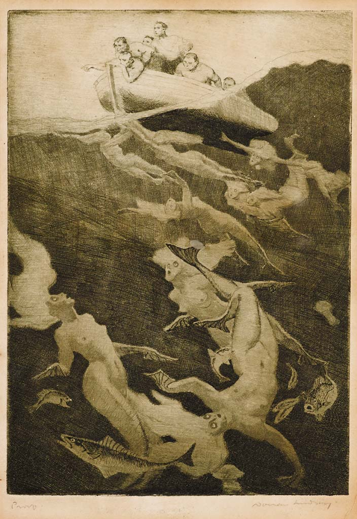 Norman Lindsay (1879-1969) The Quest, c. 1913  unpublished etching