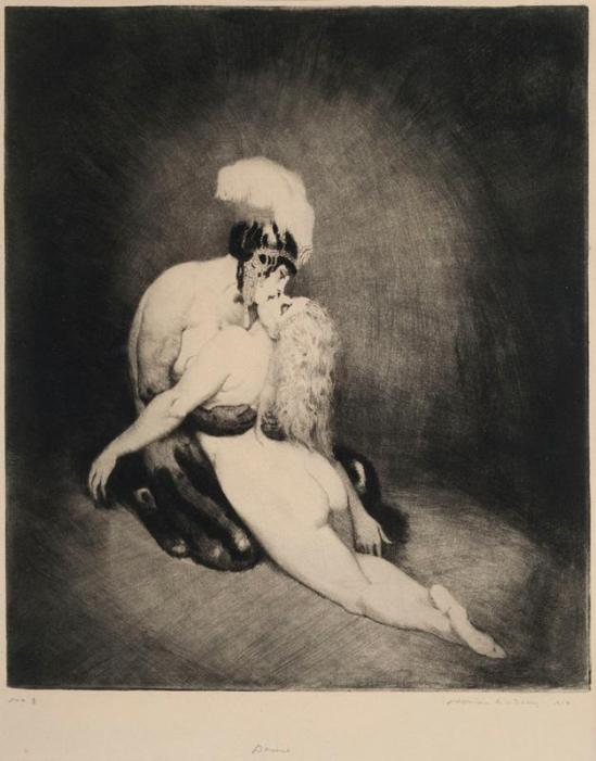 Norman Lindsay -Desire, 1919 Etching, drypoint, engraving and roulette