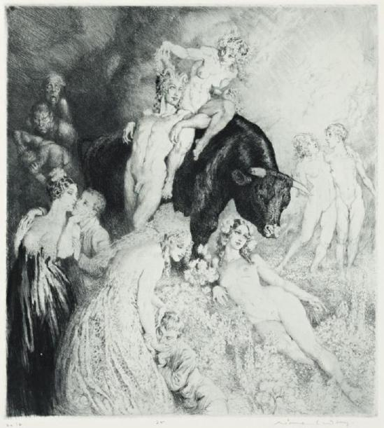Norman Lindsay -Have Faith, 1932 Etching, engraving, drypoint and stipple