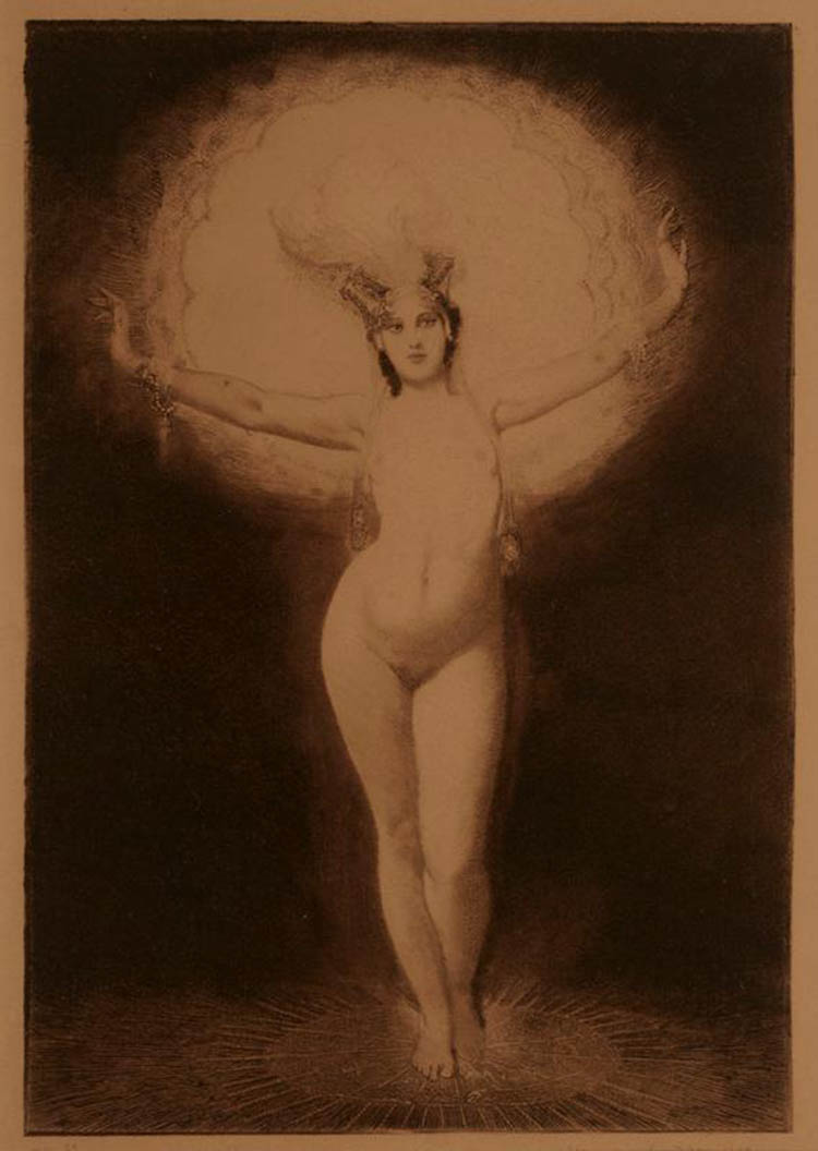 Norman Lindsay Oblation, 1920 Etching, aquatint and stipple