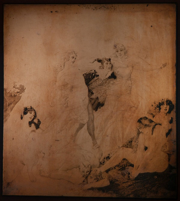 Norman Lindsay The Jester's Frolic', C.1928, Etching, aquatint and stipple