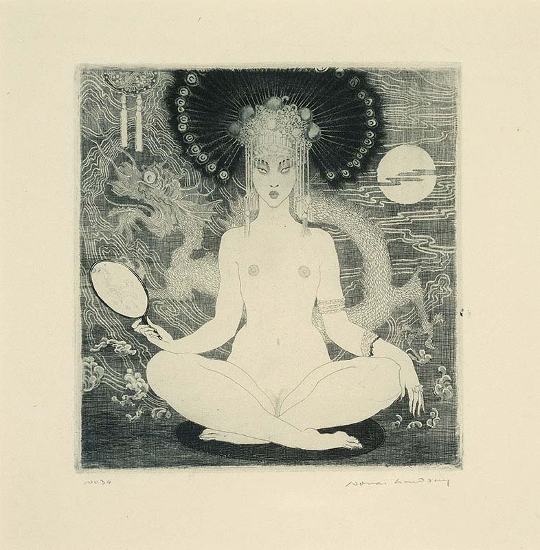 Norman Lindsay The Yellow Lady, 1920 Etching, soft ground, engraving and stipple