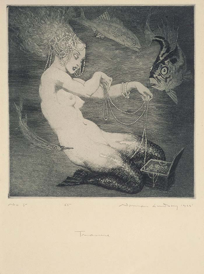 Norman Lindsay Treasure, 1925 Etching and soft ground