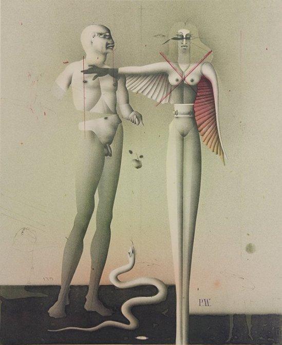Paul Wunderlich -Adam und Eva (nach Durer), 1981.