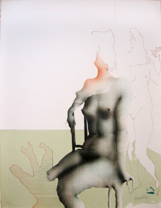 Paul Wunderlich Bien Assise , Lithographie 1970