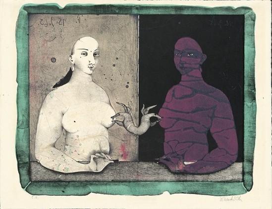 Paul Wunderlich- Bosomfriends II (Goldfinger), 1965