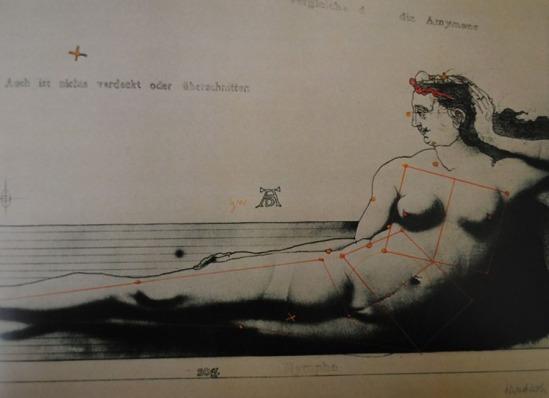 Paul Wunderlich Eine Nymphe Aus Wien , Lithographie 1970