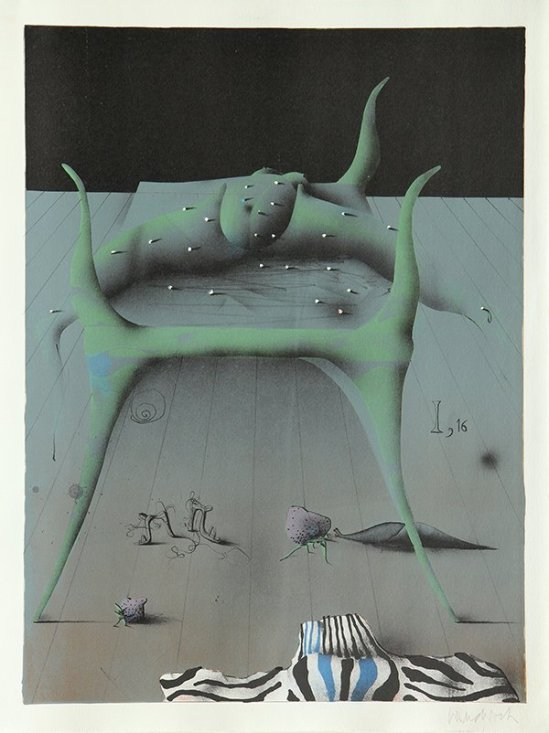 Paul Wunderlich - From The Song of Songs  Which is Solomon's, 1970 plate I with poems