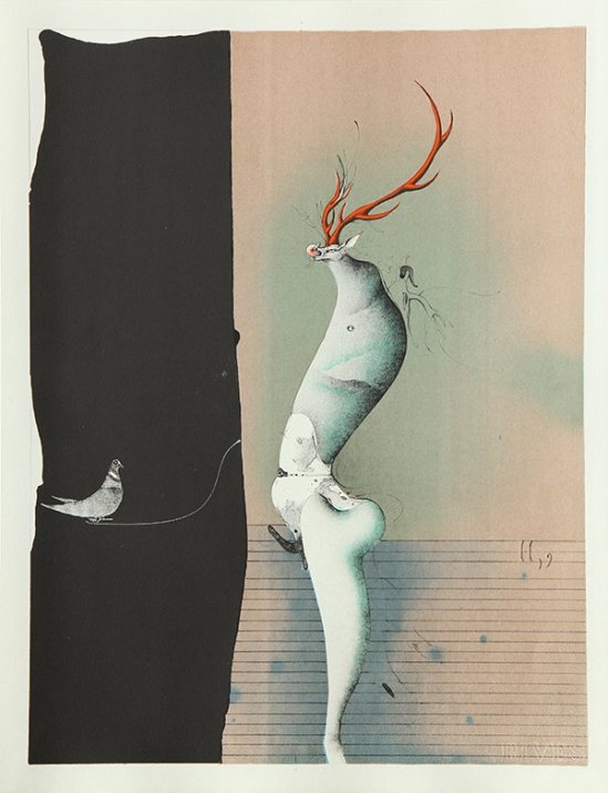 Paul Wunderlich - From The Song of Songs  Which is Solomon's, 1970 plate III with poems