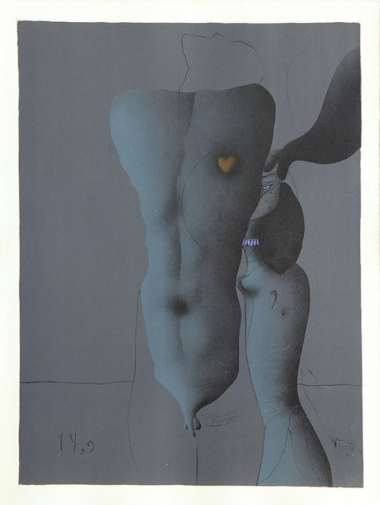Paul Wunderlich - From The Song of Songs  Which is Solomon's, 1970 plate VI with poems