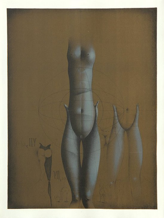 Paul Wunderlich - From The Song of Songs  Which is Solomon's, 1970 plate VIII with poems