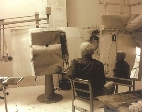 Paul Wunderlich in his studio by Karin Szekessy, 2000