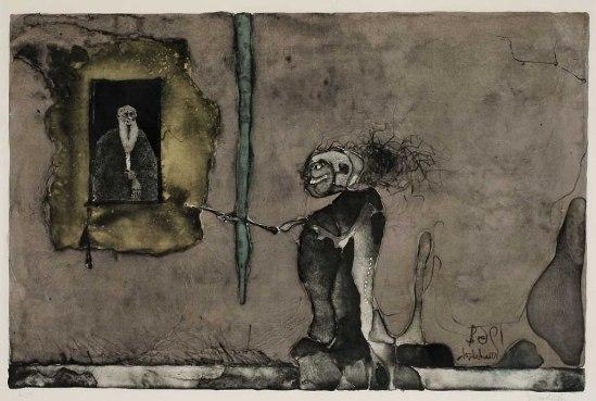 Paul Wunderlich Le vieux monsieur Lithographie , 1962