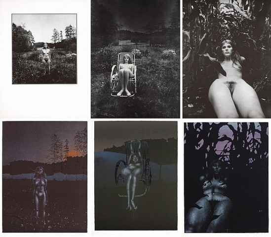 Paul Wunderlich-Twilight , 3 lithographs in colours and 3 photography of Karin Székessy 1971