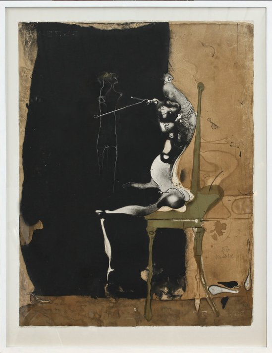Paul Wunderlich -Untitled , Lithograph 1962