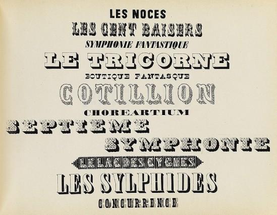 Alexey Brodovitch liste de tous tous les Ballets photographiés ed J.J. Augustin Publisher, 1945