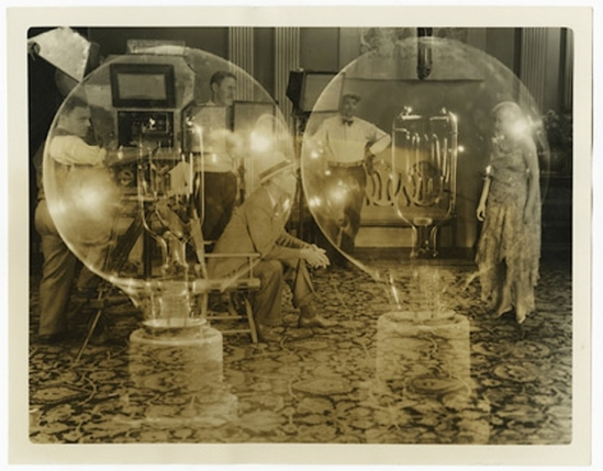 """Electrical illusion of director Jack Conway, filming a scene of Bessie Love, Metro-Goldwyn-Mayer dancing and singing star."" 19301"