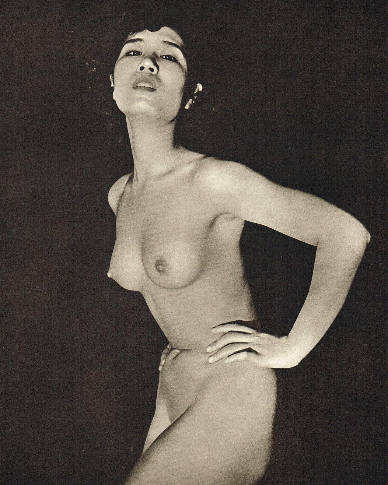 John Everard- Japanese Nude photogravure 1950Oriental Model Published by Robert Hale Ltd., London in 1955.