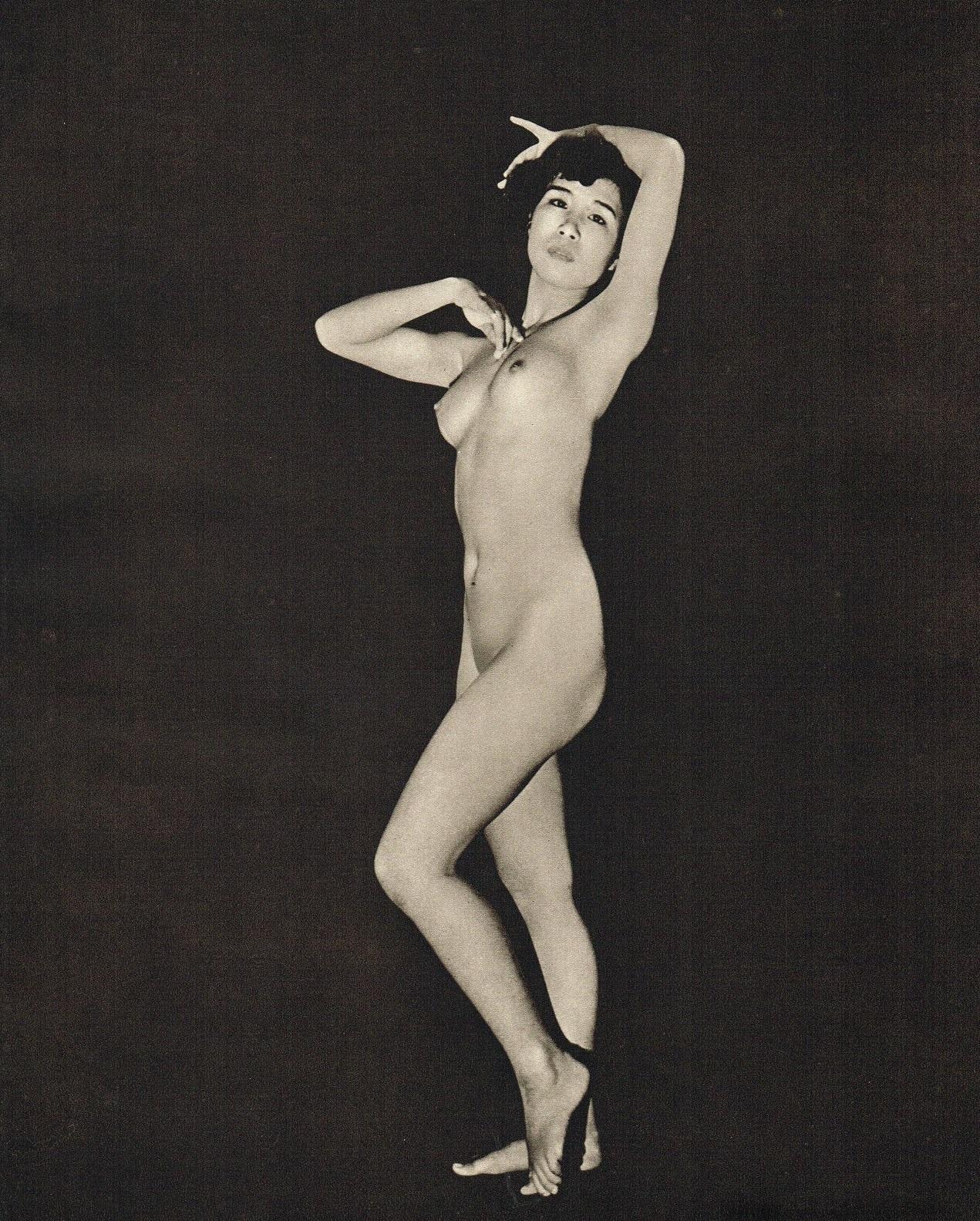 John Everard Japanese Nude photogravure 1950Oriental Model Published by Robert Hale Ltd., London in 1955.
