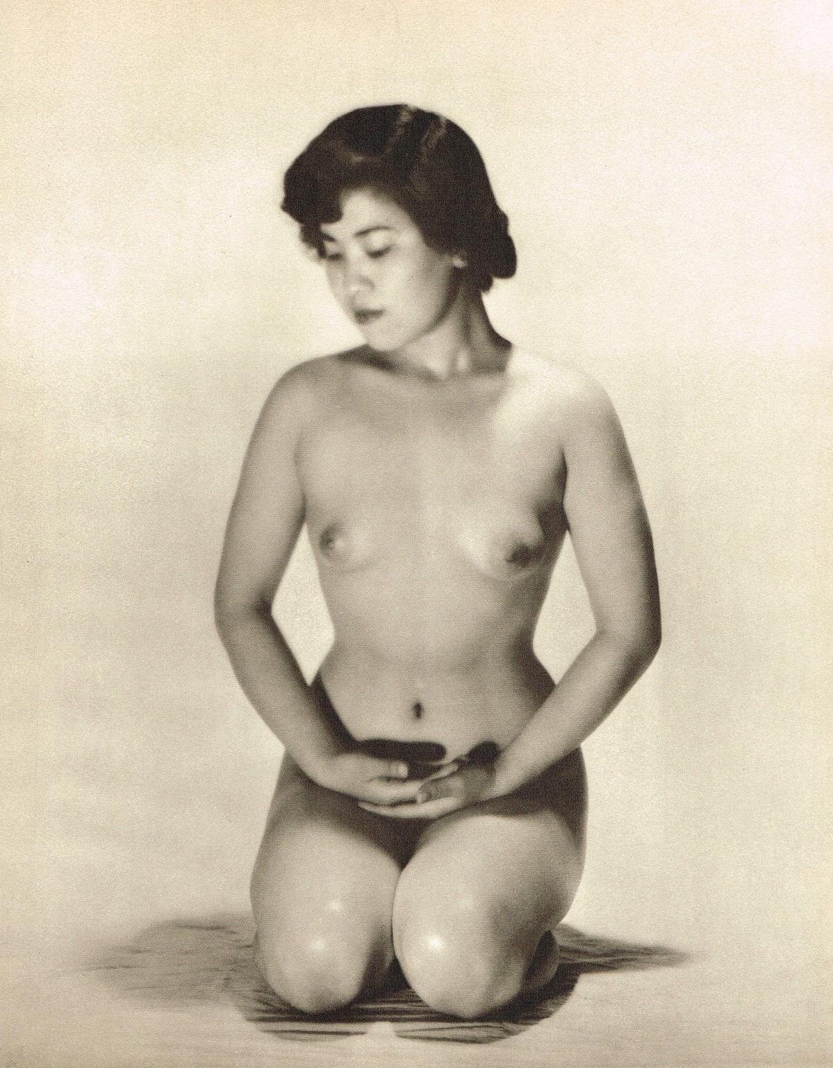 John Everard- kneeling Asian Filipino nude photogravure 1950Oriental Model Published by Robert Hale Ltd., London in 1955.